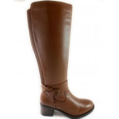 Janessa Tan Leather Knee-High Boot