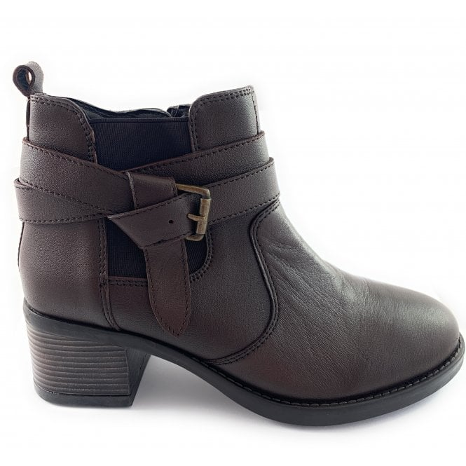 Lotus Janet Brown Leather Ankle Boot