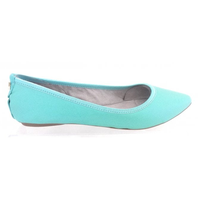 Butterfly Twists Janey Aqua Faux Leather Ballerina Pump