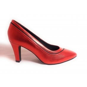 Jemila Evo 411-90171-4940 Red Metallic Leather Court Shoes
