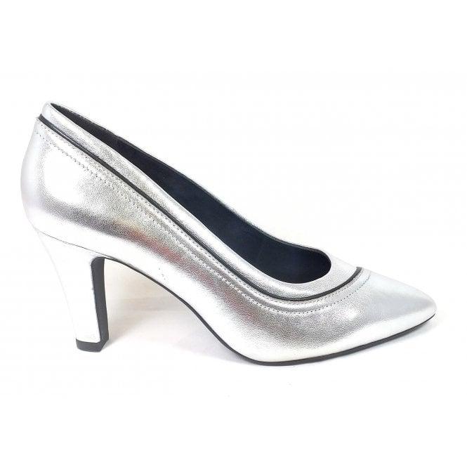 Bugatti Jemila Evo 411-90171-4940 Silver Leather Court Shoes
