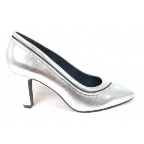 Jemila Evo 411-90171-4940 Silver Leather Court Shoes