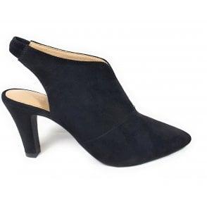 Jemila Evo 411-90173-3400 Black Suede sling-back Court Shoes
