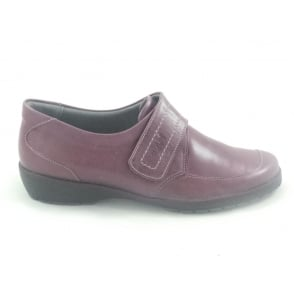 Jenny Burgundy Leather Casual Shoe