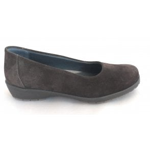 Jewel Brown Suede Slip On Shoes
