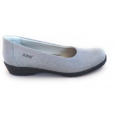 Jewel Grey Print Leather Slip On Shoes