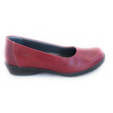 Jewel Red Leather Slip On Shoes