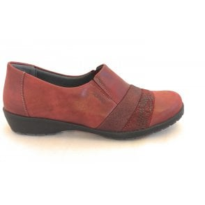 Jill Burgundy Leather Comfort Shoes