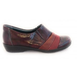 Jill Burgundy Patent Leather Comfort Shoes
