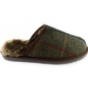 Jimmy Brown  Tweed Mule Slipper