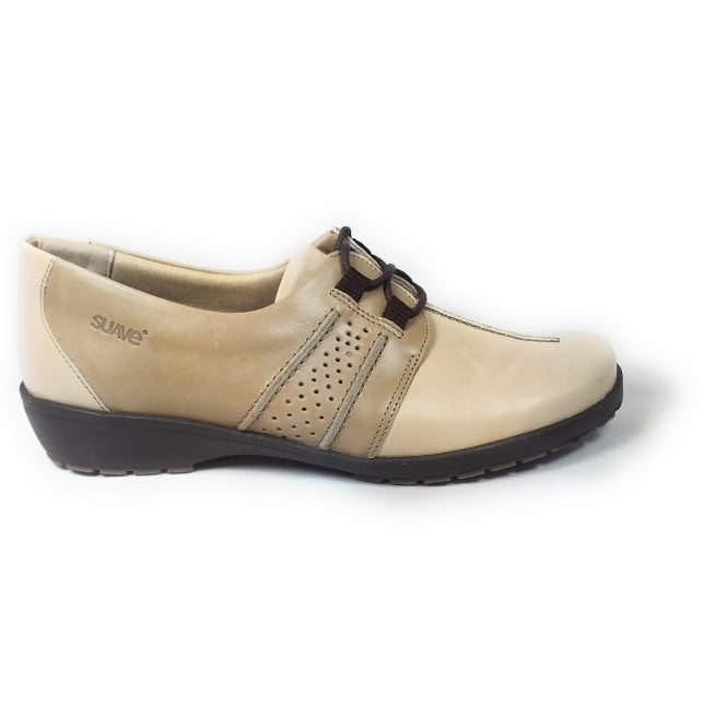 Suave Joan Beige Leather Casual Shoes