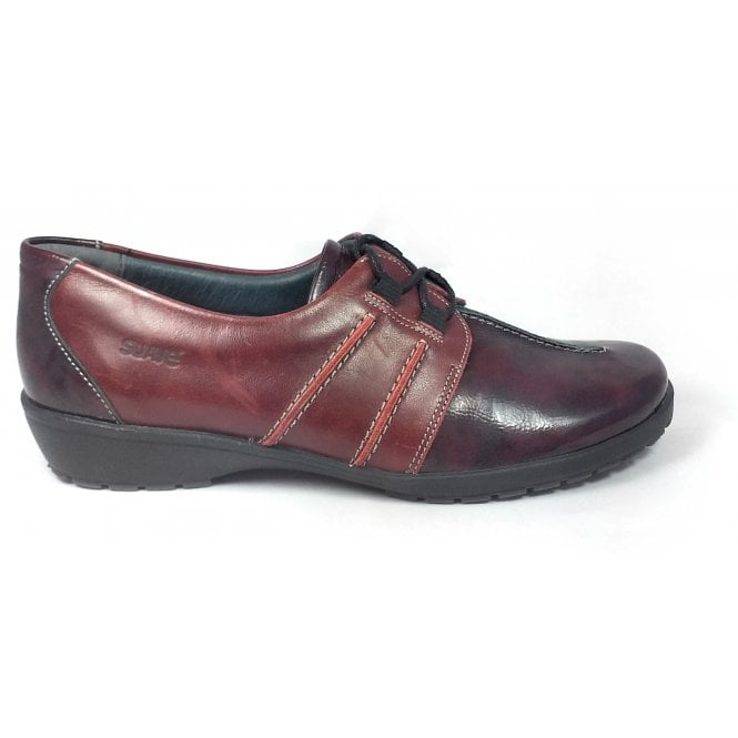 Suave Joan Burgundy Patent and Leather Casual Shoes