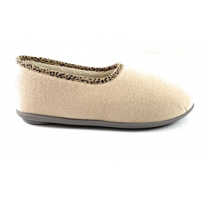 Lotus Jocelyn Beige Felt Slipper