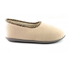 Jocelyn Beige Felt Slipper Size 4