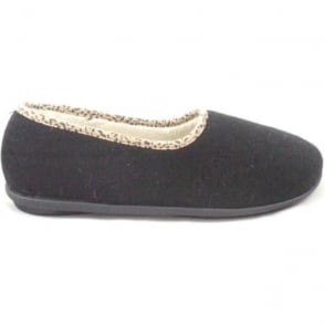 Jocelyn Black Felt Slipper Size 4