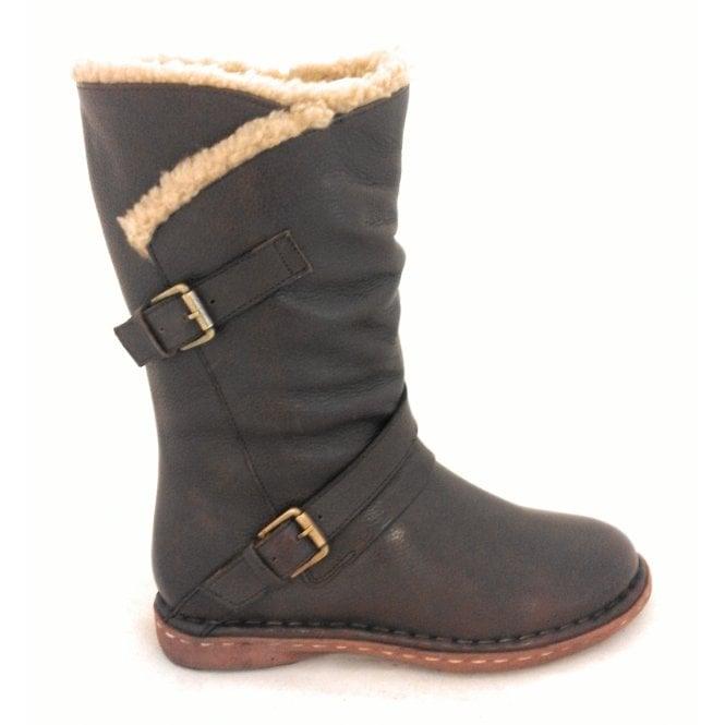 Lotus Jolanda Brown Leather Mid-Calf Boot