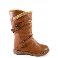 Jolanda Tan Leather Mid-Calf Boot