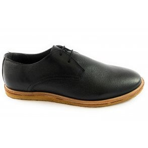 Jordan Black Leather Lace-Up Shoe