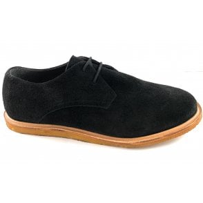 Jordan Black Suede Lace-Up Shoe