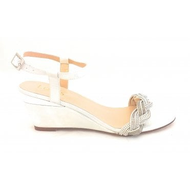 Josephine Silver Diamante Wedge Sandal