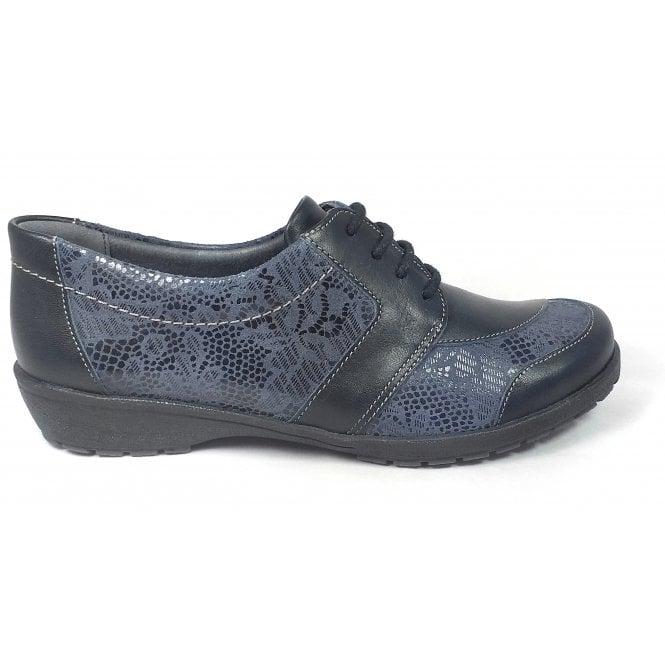 Suave Josie Black and Suede Print Casual Shoes
