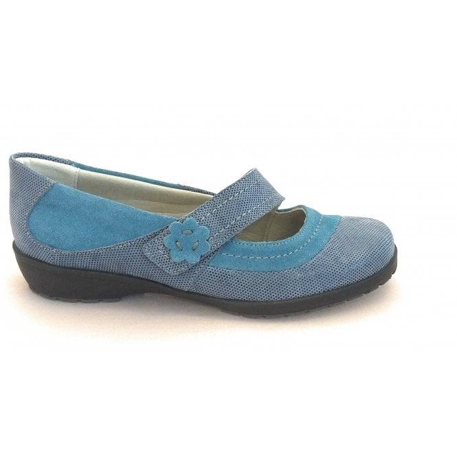 Suave Joy Blue Suede Casual Shoe