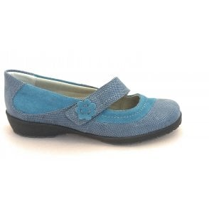 Joy Blue Suede Casual Shoe