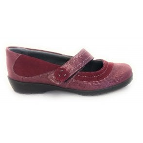 Joy Burgundy Suede Casual Shoe