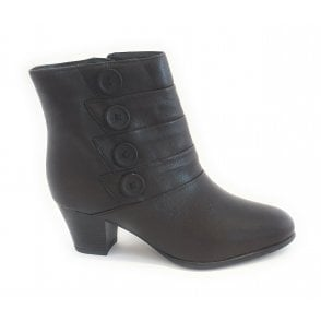 Julia Brown Leather Ankle Boot