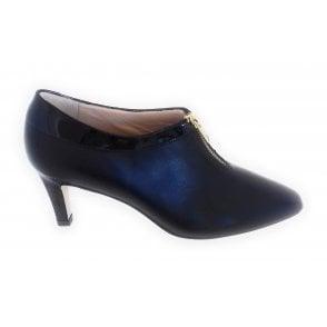 June Black Leather Trouser Shoe
