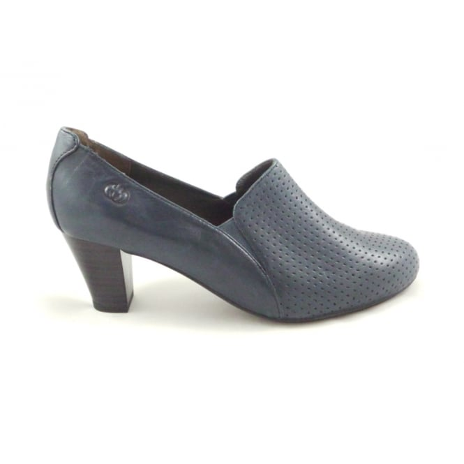 kate 15 navy blue leather high front court shoe from