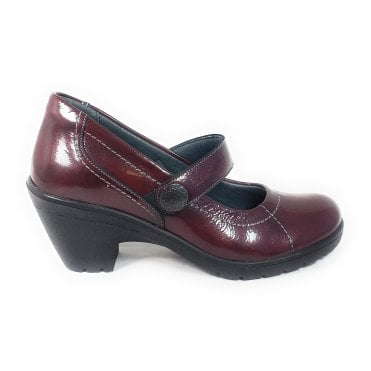 Kate Burgundy Patent Shoes