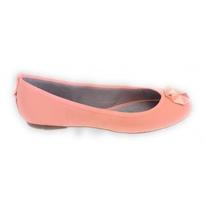Butterfly Twists Kate Dusty Peach Leather Ballerina