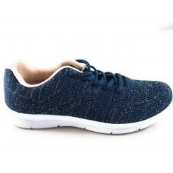 Kay Navy Lace-Up Trainer