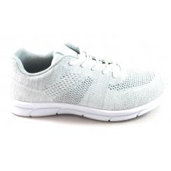 Kay White Lace-Up Trainer