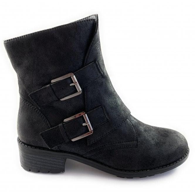 Lotus Kaylee Black Casual Ankle Boot