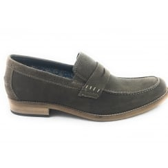 Keaton Olive Green Suede Penny Loafer Size 8