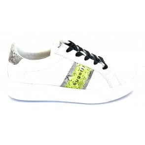 Kelli 431-4071B-5058 White and  Animal Print Trainers