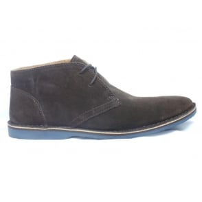 Kemble Mens Brown Suede Lace-Up Boot