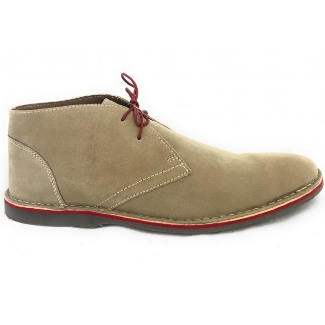 Lotus Kemble Sand Suede Lace-Up Desert Boot