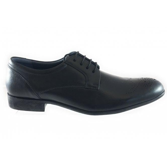 Lotus Kentwood Black Leather Lace-Up Shoe