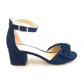 Kerry Navy Microfibre Shoe