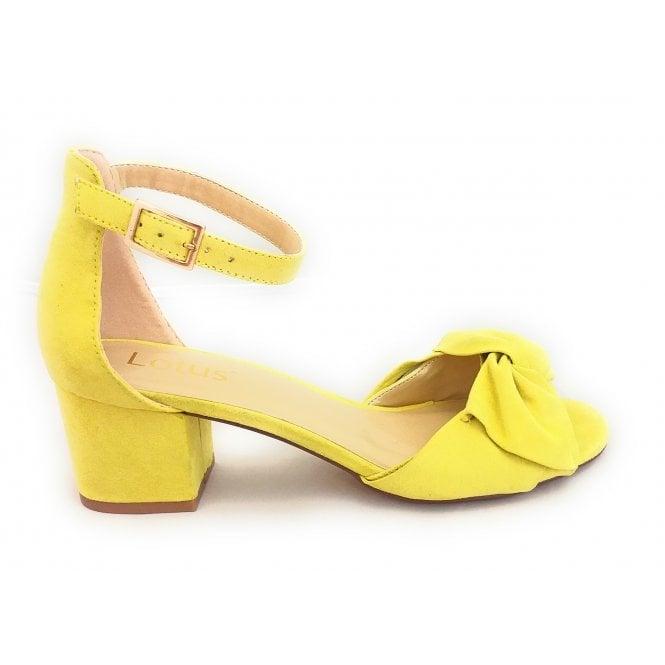 Lotus Kerry Yellow Microfibre Shoe