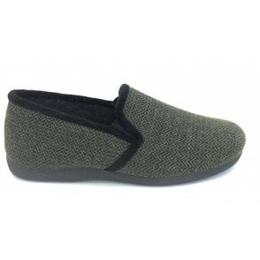 Khaki Clive Mens Slippers