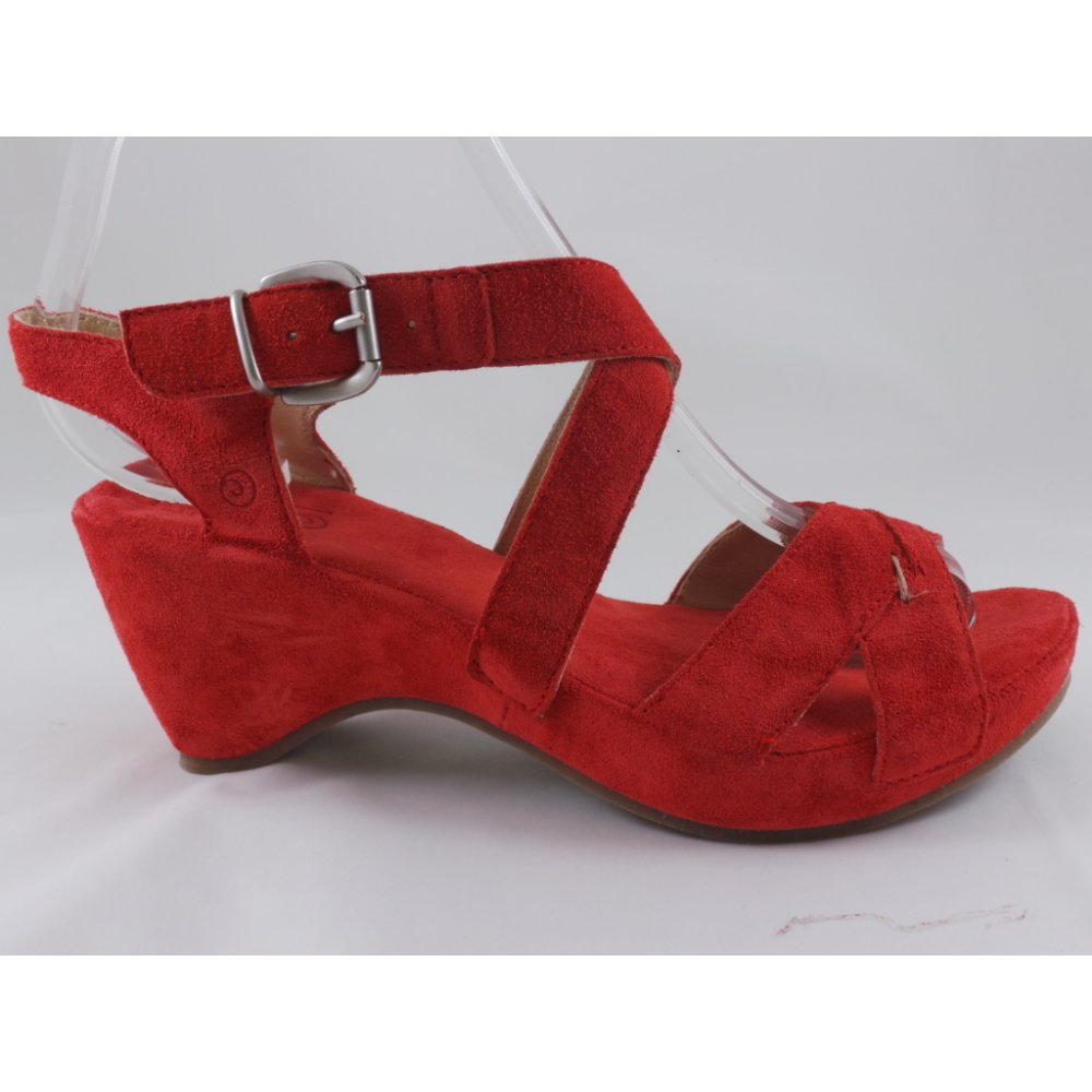 6e5b606e404 Red Suede Wedge Sandal - from size4footwear.com UK