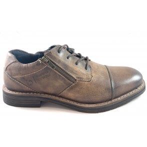 Kiano Mens Brown Leather Shoe