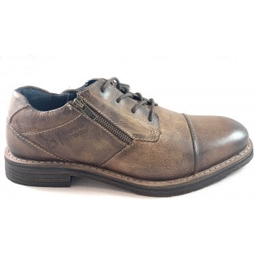 Kiano Mens Brown Leather Shoe