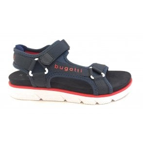 Kiko 431-67387-6950 Dark Blue and Red Sports Sandals