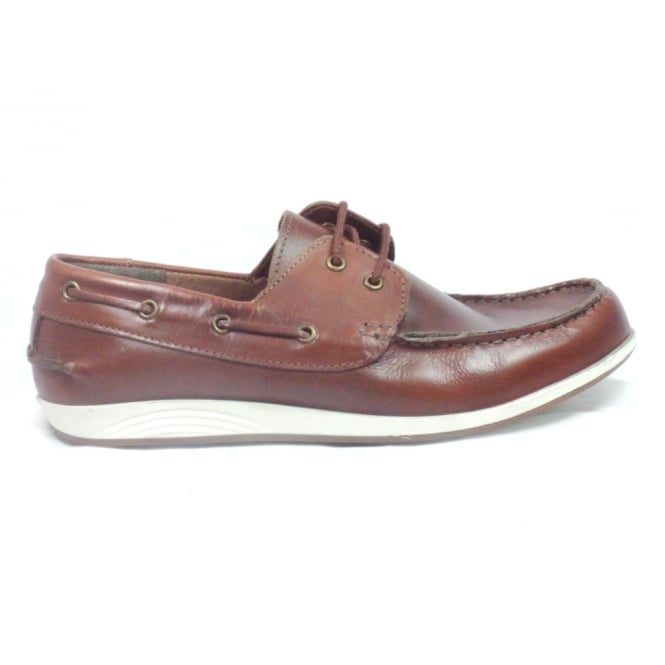 Lotus Knighton Brown Leather Boat Shoe