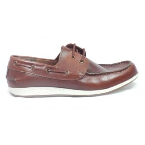 Knighton Brown Leather Boat Shoe